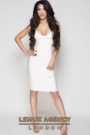 London escort Paris from Hungary in a white dress located in Chelsea